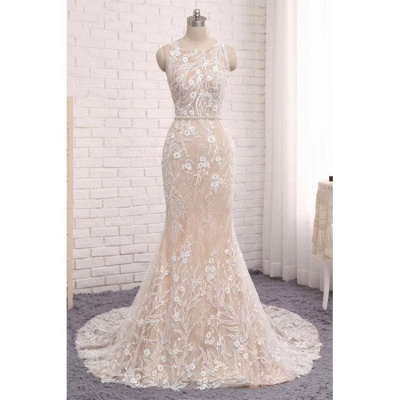 Designer wedding dresses lace | White mermaid wedding dresses online_2