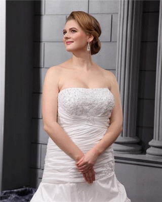 Plus Size Wedding Dresses For Fat Women White Wedding Gowns Large Size_3
