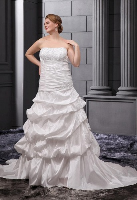 Plus Size Wedding Dresses For Fat Women White Wedding Gowns Large Size_1