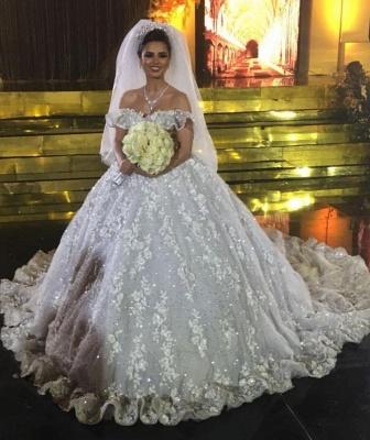 Elegante Brautkleider Spitze | Prinzessin Hochzeitskleider Günstig Online_1