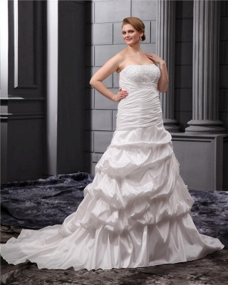 Plus Size Wedding Dresses For Fat Women White Wedding Gowns Large Size_4