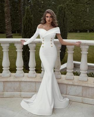 Elegant Long Evening Dresses Cheap | White prom dresses online at Kuafen_1