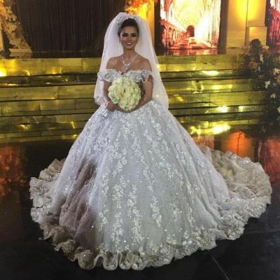 Elegante Brautkleider Spitze | Prinzessin Hochzeitskleider Günstig Online_2