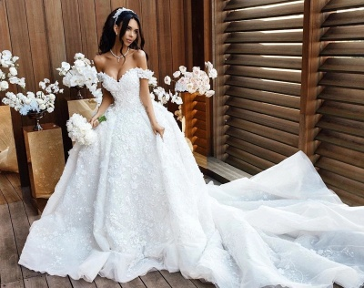 Luxury Wedding Dresses A Line Wedding Gowns Lace Cheap Online_2