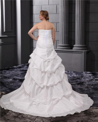 Plus Size Wedding Dresses For Fat Women White Wedding Gowns Large Size_2
