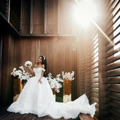 Luxury Wedding Dresses A Line Wedding Gowns Lace Cheap Online_5