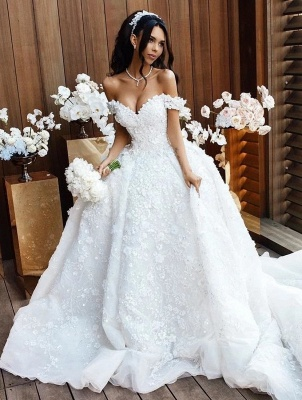 Luxury Wedding Dresses A Line Wedding Gowns Lace Cheap Online_1