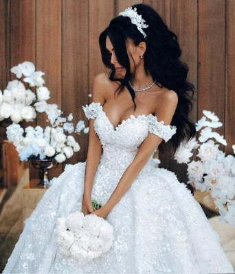 Luxury Wedding Dresses A Line Wedding Gowns Lace Cheap Online_3