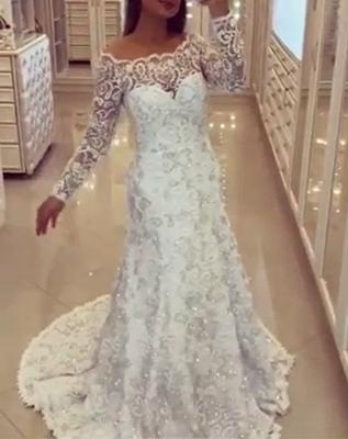 Lace wedding dresses white mermaid style tugs wedding fashions bridal fashions_1
