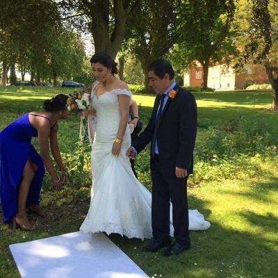 Elegante Brautkleider Meerjungfrau | Weiße Spitze Hochzeitskleider Online_3