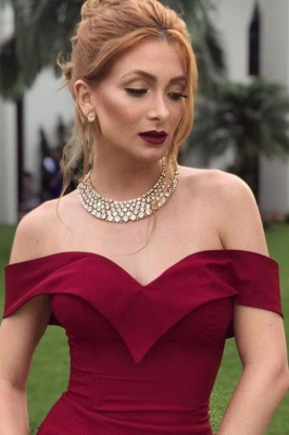 Elegant women evening dresses red long cheap prom dresses online_3