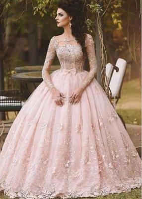 Elegante Abendkleider Lang Rosa | Spitze Abendmoden Bodenlang_1