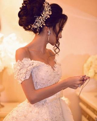 Designer Hochzeitskleider Weiß Spitze A Linie Brautkleider Günstig Kaufen_4
