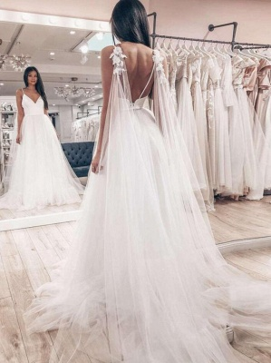 Simple wedding dresses A line | Tulle Wedding Dresses Cheap Online_2
