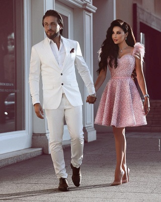 Luxury prom dresses cheap | Pink cocktail dresses short_2