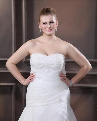 Weiß Brautkleider Übergroße Organza Meerjungfrau Hochzeitskleider Große Größe Nach Mäßig_2