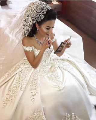 Fashion Weiße Brautkleider Prinzessin Bodenlang Hochzeitskleider Mit Spitze_1