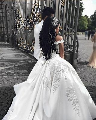Fashion Weiße Brautkleider Prinzessin Bodenlang Hochzeitskleider Mit Spitze_2