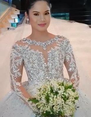 Luxus Brautkleid Mit Ärmel | A Linie Spitze Hochzeitskleider Online_2