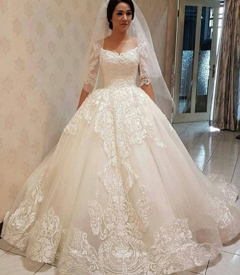 Elegante Brautkleider Mit Ärmel | Spitze Hochzeitskleider Günstig Online_3