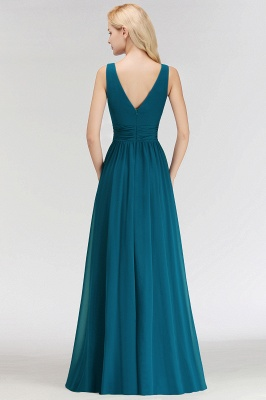 Dark Green Chiffon Bridesmaid Dresses Long Cheap Bridesmaid Dresses_5