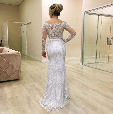 Elegant mermaid wedding dresses | Wedding dresses with sleeves online_3