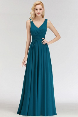 Dark Green Chiffon Bridesmaid Dresses Long Cheap Bridesmaid Dresses_2