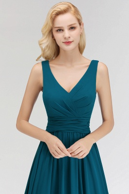 Dark Green Chiffon Bridesmaid Dresses Long Cheap Bridesmaid Dresses_4