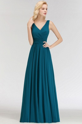 Dark Green Chiffon Bridesmaid Dresses Long Cheap Bridesmaid Dresses_3