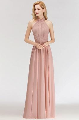 Modern Rosa Long Chiffon Brautjungfernkleider Etuikleid Kleider für Brautjunfern_2