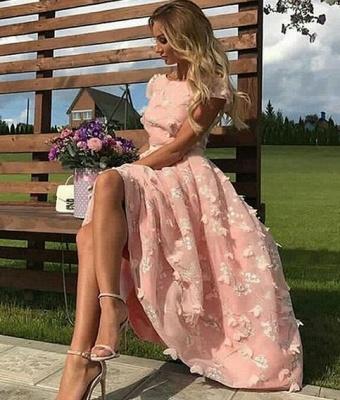 Rosa Cocktailkleider Kurz Online | Abiballkleider Abendkleider Online_1
