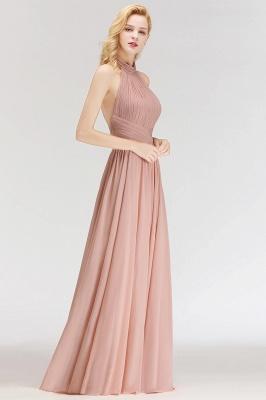 Modern Rosa Long Chiffon Brautjungfernkleider Etuikleid Kleider für Brautjunfern_3