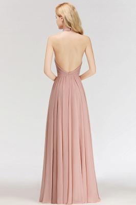 Modern Rosa Long Chiffon Brautjungfernkleider Etuikleid Kleider für Brautjunfern_5