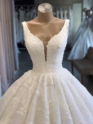 Modern princess wedding dress white | Wedding dress with lace_2
