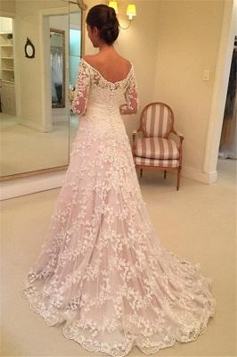 Fashion Hochzeitskleider Für Mollige mit Ärmel Günstige Brautkleider A Linie_3