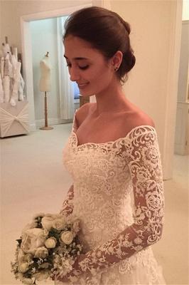Fashion Hochzeitskleider Für Mollige mit Ärmel Günstige Brautkleider A Linie_2