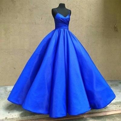 Fashion King Blue Evening Dresses Long Cheap Taffeta Evening Wear Prom Dresses Online_2