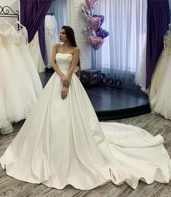 Designer Brautkleider A linie Mit Ärmel | Spitze Hochzeitskleider_3