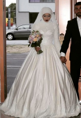 Designer A Line Wedding Dresses With Lace | Wedding dresses with sleeves_1