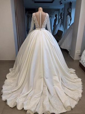 Elegante Brautkleid Mit Ärmel | Prinzessin Hochzeitskleid Weiß Online_3