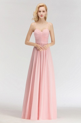 Sexy Bridesmaid Dresses Chiffon Long Pink Sheath Dresses For Wedding_1
