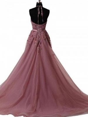 Design Abendkleider Lang Günstig Perlen A Linie Elegante Abendmode Damen_2