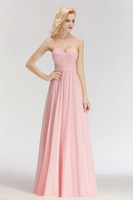 Sexy Bridesmaid Dresses Chiffon Long Pink Sheath Dresses For Wedding_2
