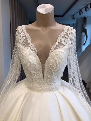 Elegante Brautkleid Mit Ärmel | Prinzessin Hochzeitskleid Weiß Online_2