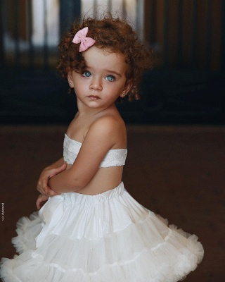 New White Flower Children Dresses Wedding Lace Flower Girl Dresses_1