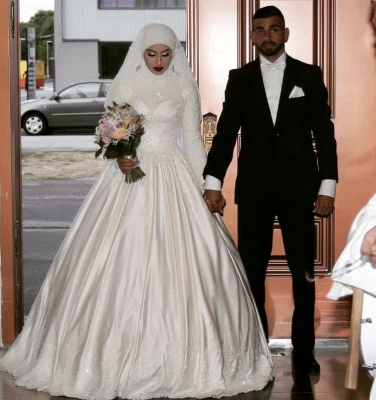 Designer A Line Wedding Dresses With Lace | Wedding dresses with sleeves_2