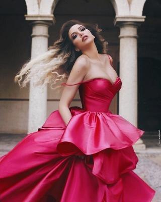 Elegant Rosa Abendkleider Lang Günstig Prinzessin Abiballkleider Online Kaufen_2