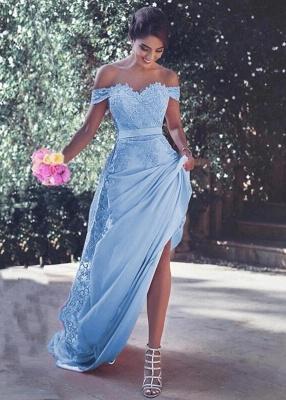 elegante abendkleider blau spitze  abiballkleider lang günstig abendkleiderkleider für