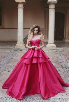 Elegant Rosa Abendkleider Lang Günstig Prinzessin Abiballkleider Online Kaufen_1