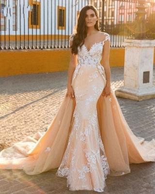Designer Wedding Dresses A Line | Wedding dresses with lace online_1